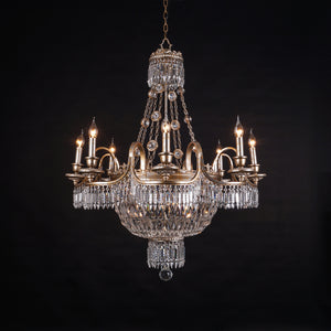 antique crystal chandlier small