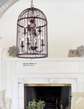 BIRD CAGE COUNTRY STYLE CRYSTAL CHANDELIER - AQ-70004 - Aglaia lighting