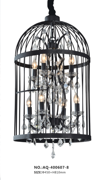 Bird Caged Chandelier - AQ-70004