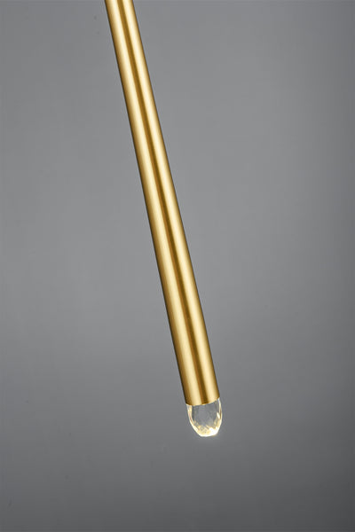 Brass vertical tube wall fitting - contemporary wallfitting - Replica - Aglaia lighting
