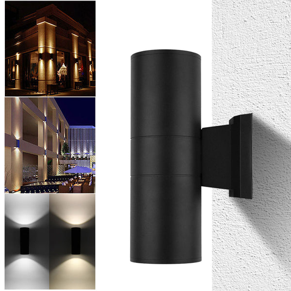 Matt Black Metal Outdoor Up and Down Wall Light 7.5W LED 5 Years Warranties
