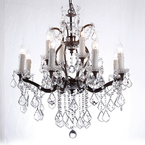 Robin 2nd. Country Crystal Chandelier