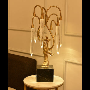 Ice Age - Carve Brass Serise / Chandelier / Table Lamp / Wallfitting - Aglaia lighting
