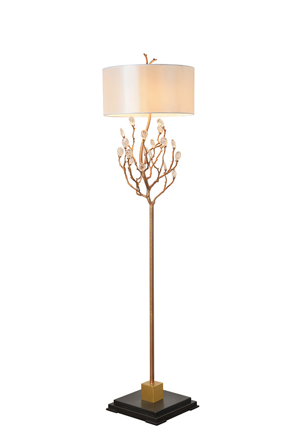 Scepter Solid Brass + Marble Floor Lamp