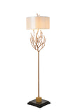 SCEPTER SOLID BRASS + MARBLE FLOOR LAMP - Aglaia lighting