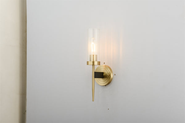 Copper bevel wall light - contemporary wall fitting - Replica