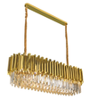brass castle full filled crystal chandelier rectangular