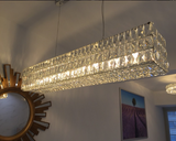 1899s Surrounded Crystal Chandelier in Living Room