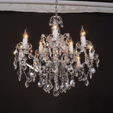 Rococo Style Mathoura Round Crystal Chandelier