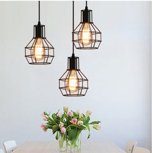 Black Caged Simple Lights Pendants