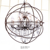COUNTRY STYLE CRYSTAL ROUND METAL CHANDELIER - LA-70003 - Aglaia lighting