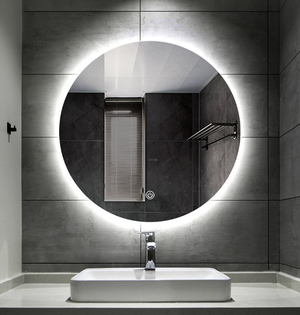 smart mirror In round Shape, with led light for bathroom mirror + makeup mirror - Aglaia lighting
