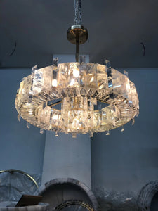 Contemporary Chandelier - Shaped Nature Crystal or Manual wave flow / No, 1609 - Aglaia lighting