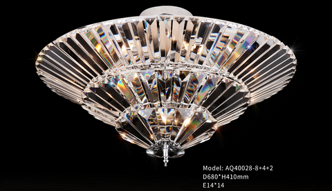 Ceiling Mounted Crystal Chandelier