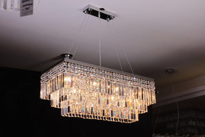Crystal Fall Long Chandelier - LA-40025 - Aglaia lighting