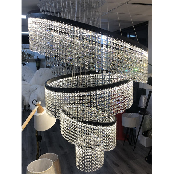 SWEET FEELING CRYSTAL RINGS CHANDELIER / STAIRCASE - Aglaia lighting