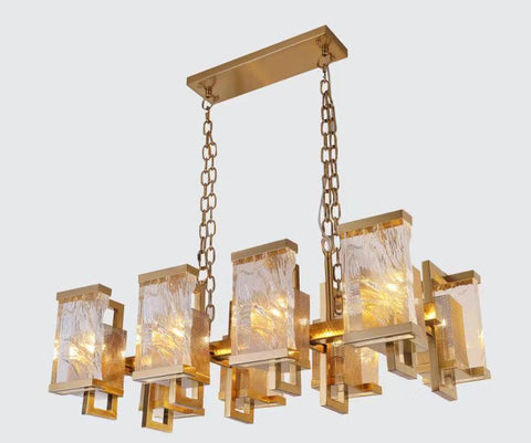 Frosted Glass Chandelier - Aglaia lighting