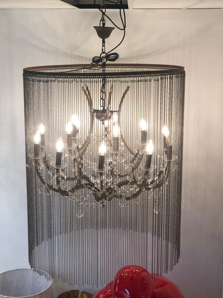 FADE LOVE - COUNTRY STYLE CRYSTAL ROUND METAL CHANDELIER - Aglaia lighting