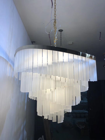 Matte Glass Chandelier - Aglaia lighting