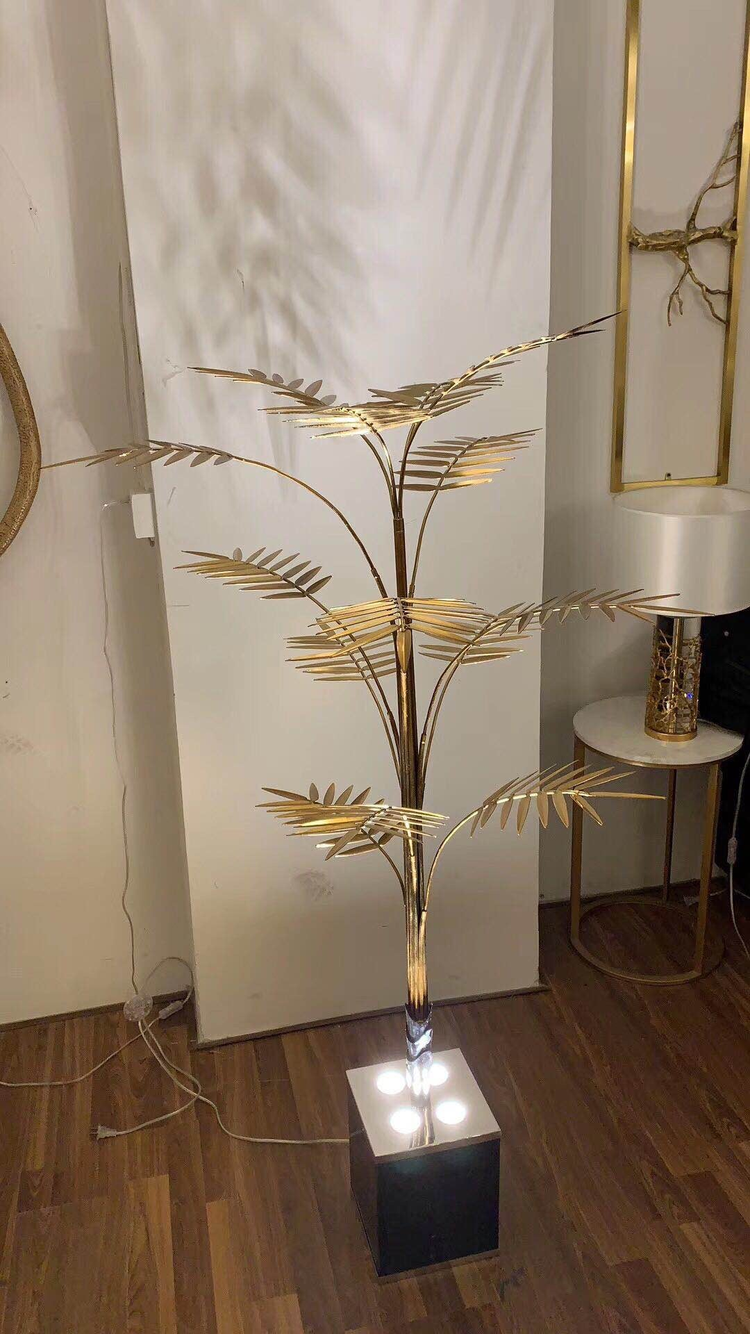 Brass leaves