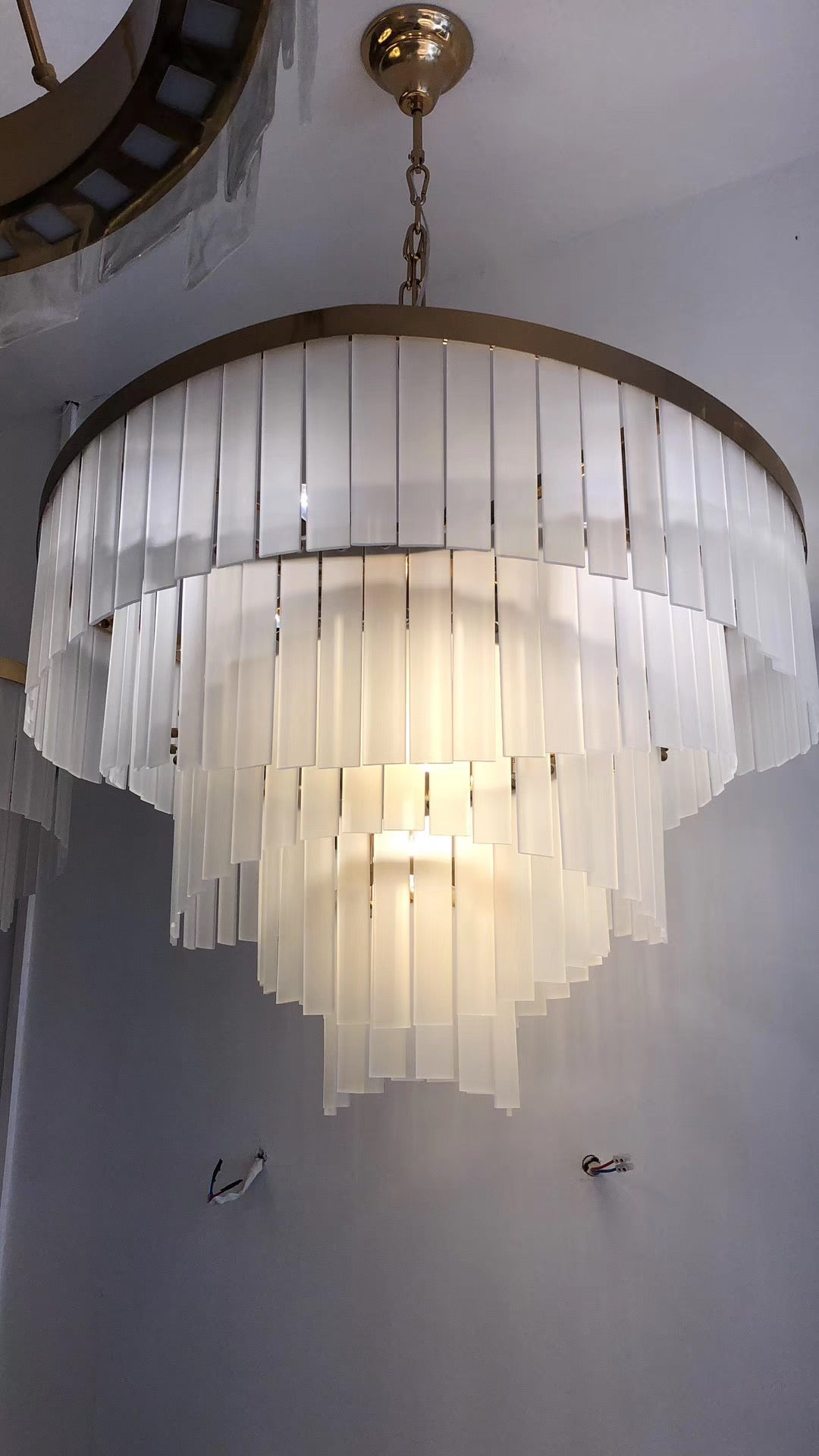 Matte Glass Chandelier