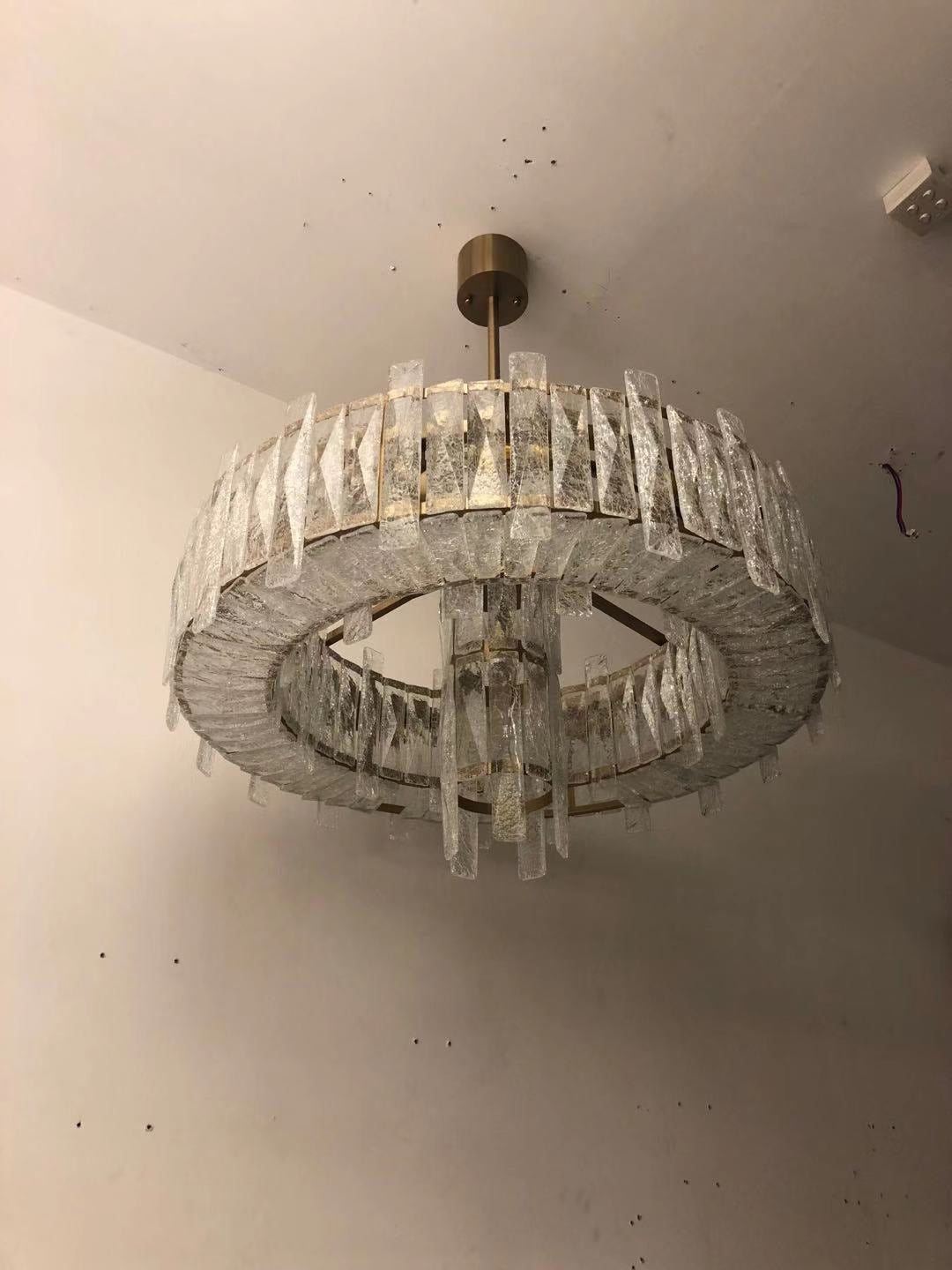Contemporary Chandelier - Shaped Nature Crystal or Manual wave flow / No, 1609