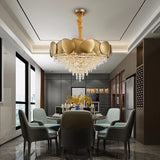 Shell - Contemporary Chandelier (Smaller Crystal Version)