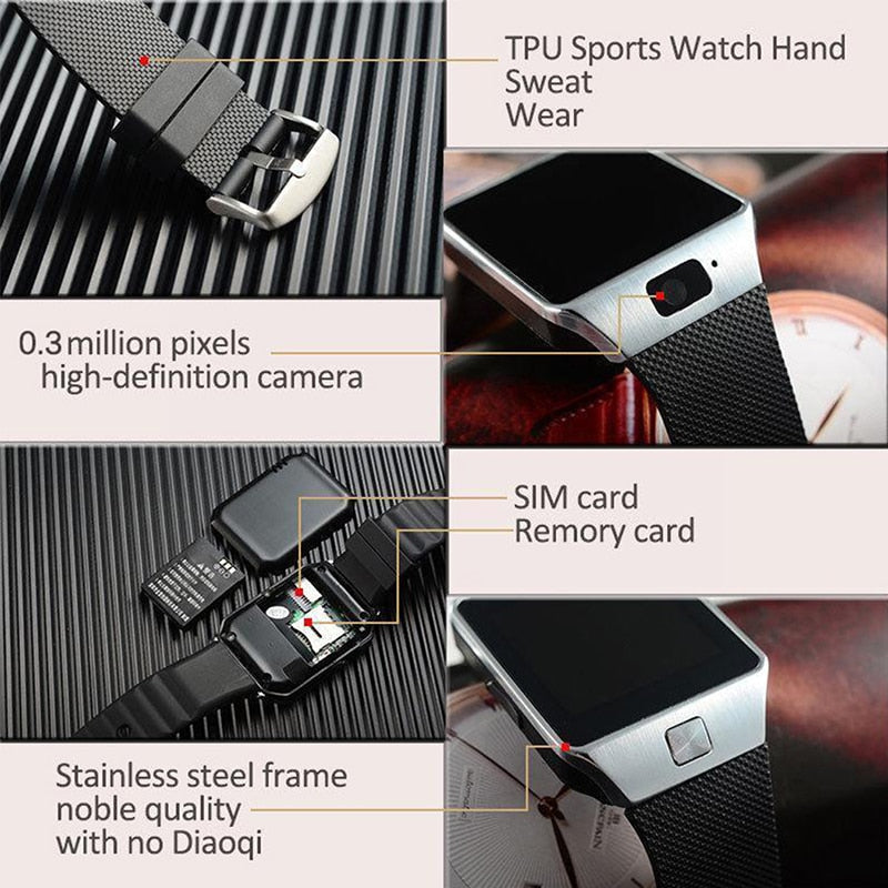 Bluetooth Notification Smart Sport Watch With Sim TF Card