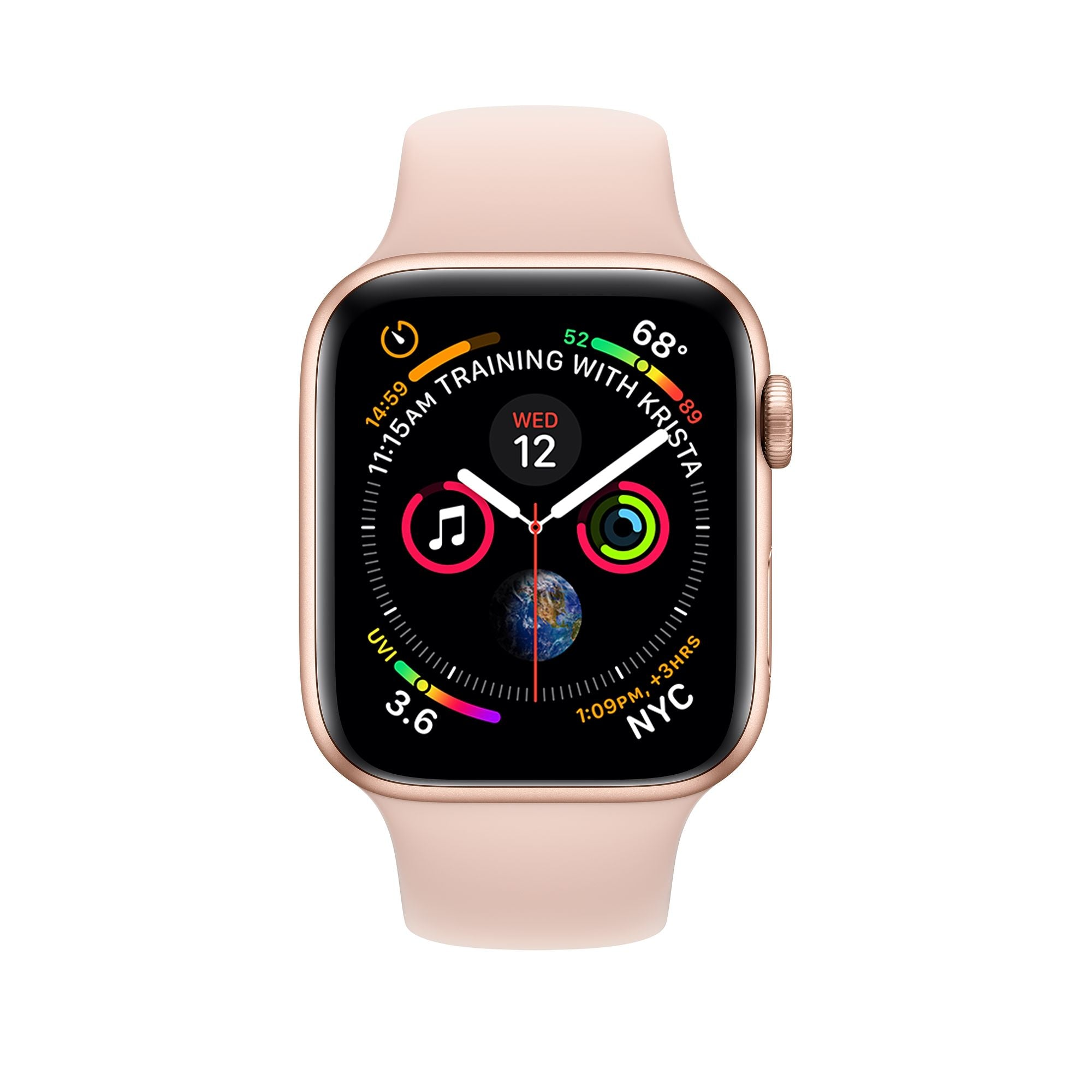 GPS 40mm Gold Aluminium Case with Pink