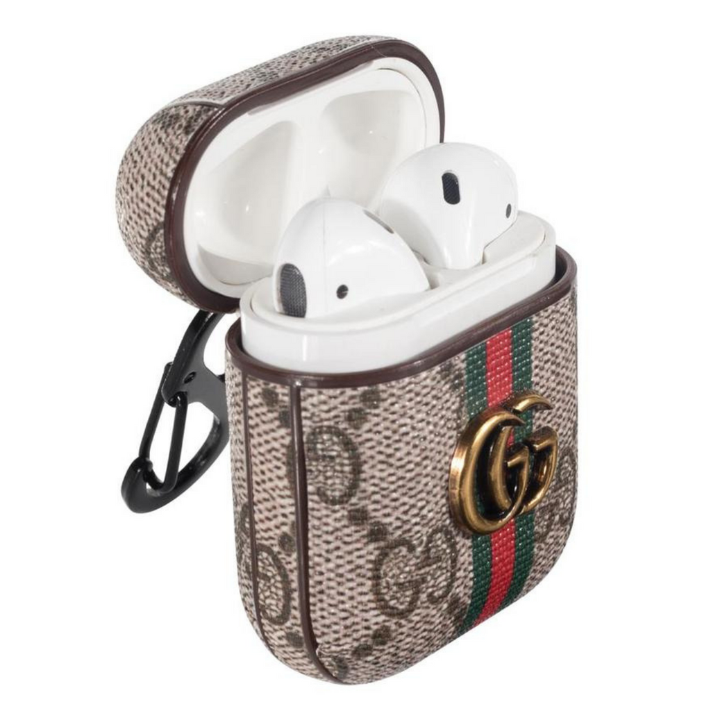 Gucci Style Marmont Leather Protective AirPods 1 \u0026 2 Case