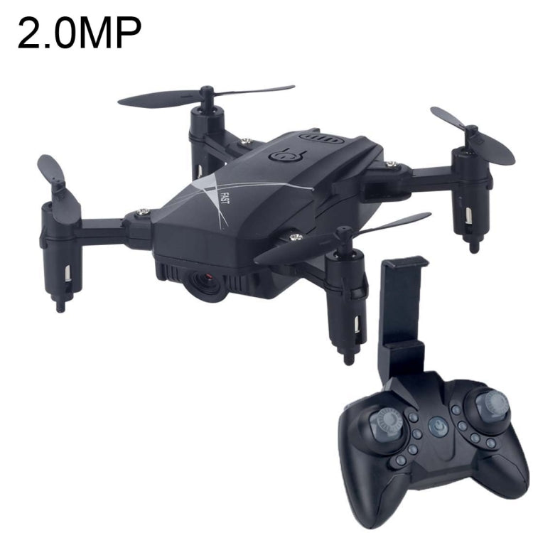 LF602 Mini Quadcopter Foldable RC Drone with 2.0MP Camera, One Battery, Support Forwards & Backwards, 360 Degrees Rotating, Altitude Hold Mode (Black) - SmartX Direct