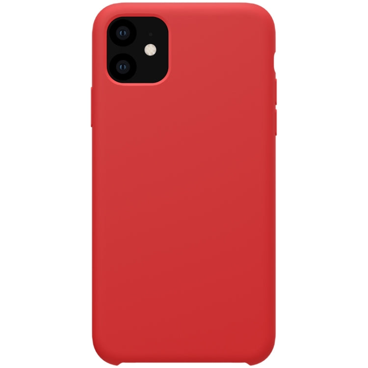 NILLKIN Flex Pure Series Solid Color Liquid Silicone Drop proof Protective Case for iPhone 11 Case Cover (6.1 inch)(RED)