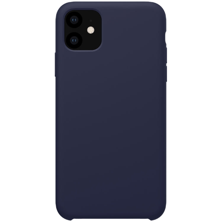 NILLKIN Flex Pure Series Solid Color Liquid Silicone Drop proof Protective Case for iPhone 11 Case Cover (6.1 inch)(Blue)