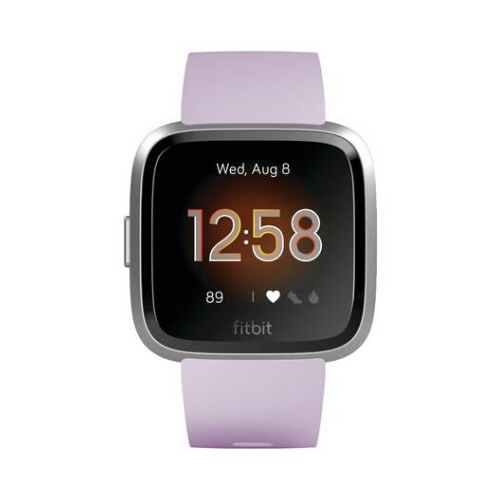 Fitbit Versa - Smart Watch with Heart Rate Monitor - Lite Edition - S/L - Lilac/Silver