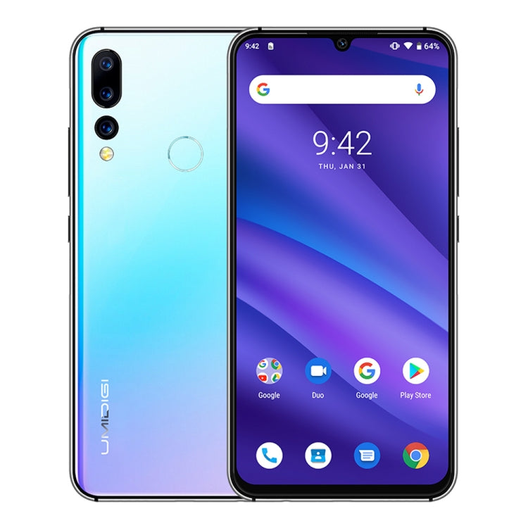 UMIDIGI A5 Pro, Global Dual 4G, 4GB+32GB Triple Back Cameras, 4150mAh Battery, Fingerprint Identification, 6.3 inch Full Screen Android 9.0