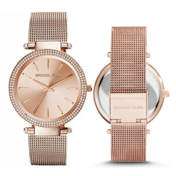 Michael Kors Watches MK3369 Darci Rose Gold Mesh Ladies Watch - SmartX Direct