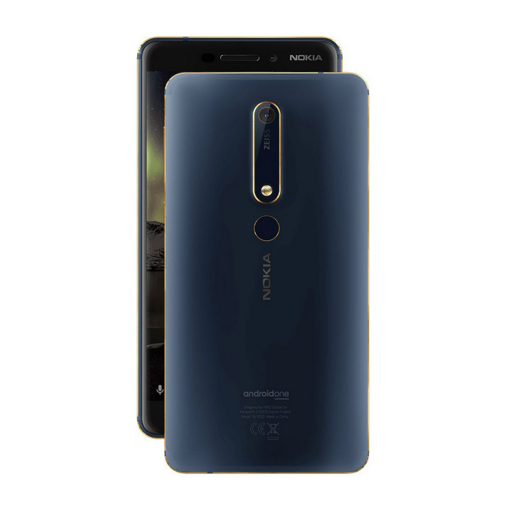 Nokia 6 (2018) TA-1043 4GB/64GB Dual Sim SIM FREE/ UNLOCKED - Blue Gold (Nokia 6.1) without Handsfree - SmartX Direct