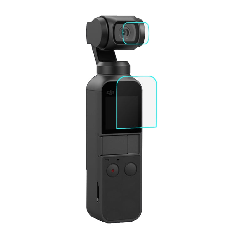 PULUZ HD Tempered Glass Lens Protector + Screen Film for DJI OSMO Pocket Gimbal
