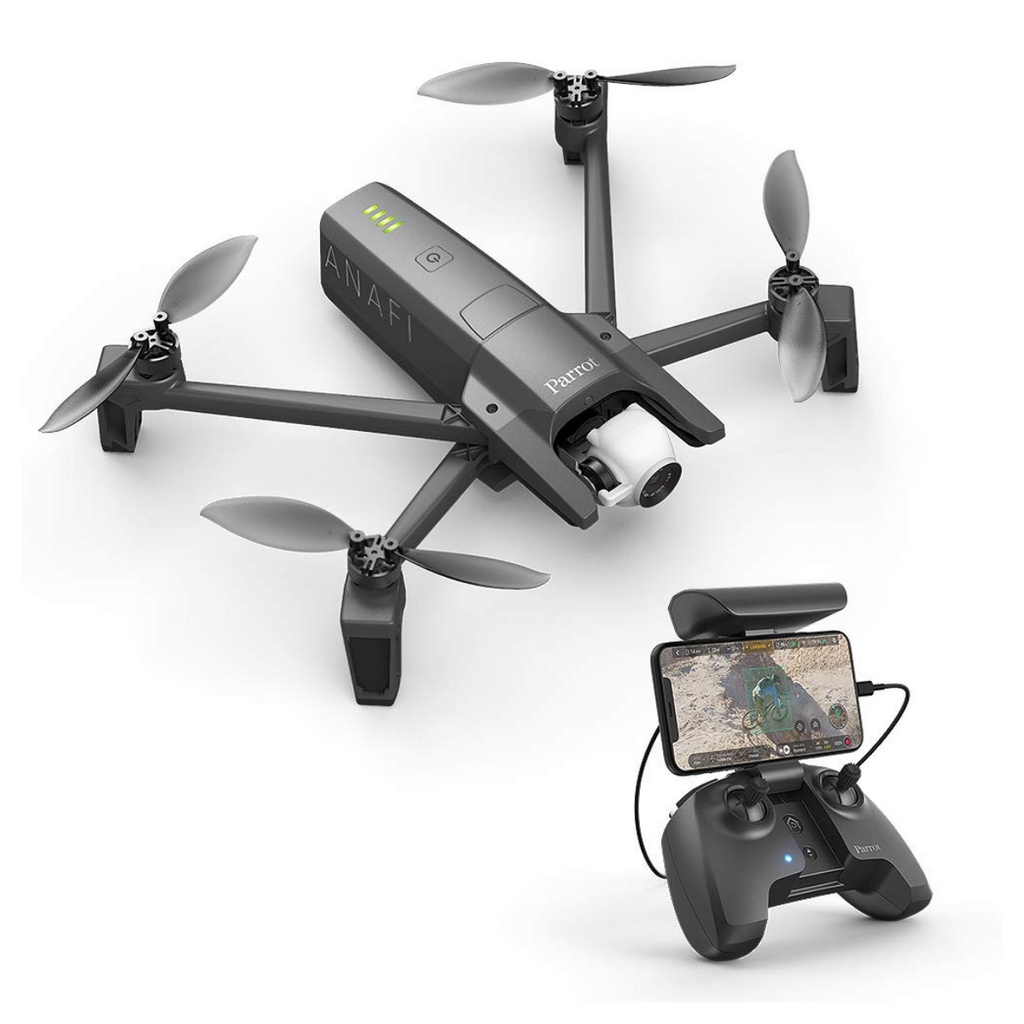 Parrot ANAFI 4K HDR Camera Drone with Skycontroller - Black - SmartX Direct