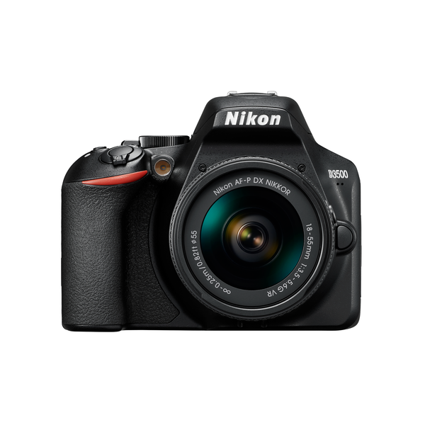 Nikon D3500 Kit AF-P DX 18-55mm f/3.5-5.6G VR Lens Digital SLR Camera - Black - SmartX Direct