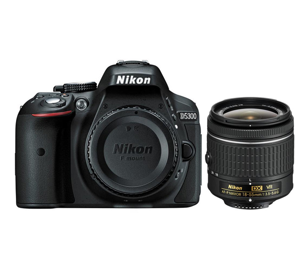 Nikon D5300 Kit with AF-P DX NIKKOR 18-55mm f/3.5-5.6G VR Lens Digital SLR Camera - Black - SmartX Direct