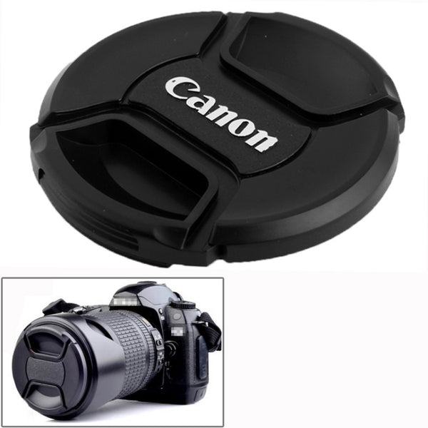 58mm Center Pinch Camera Lens Cap for Canon (Black) For Canon EOS 600D, EOS 1100D, EOS 550D, EOS 500D