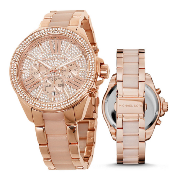 Michael Kors MK6096 Ladies Wren Watch - Rose Gold - SmartX Direct