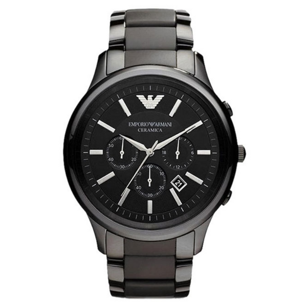 EMPORIO ARMANI AR1451 Ceramica Men's Watch - Black - SmartX Direct