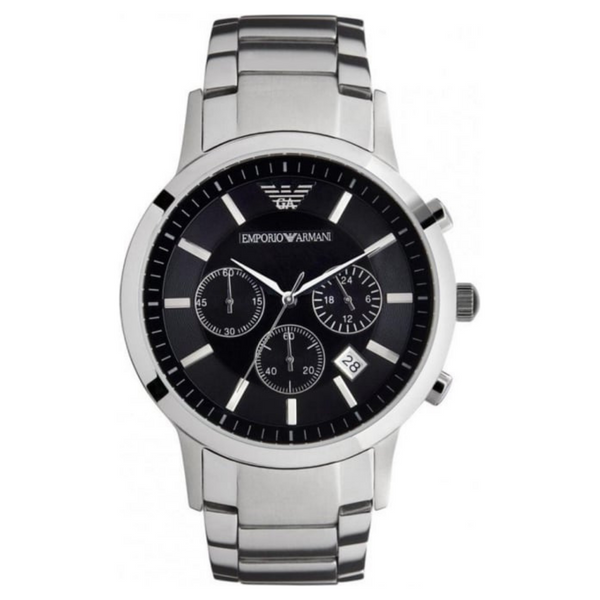 Emporio Armani AR2434 Renato Mens Chronograph Watch - Silver - SmartX Direct