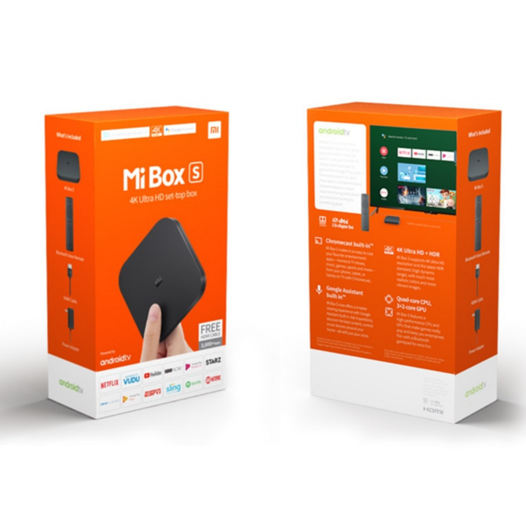 Xiaomi Mi Box S Android 4K TV Box - Black (Global Version) - SmartX Direct