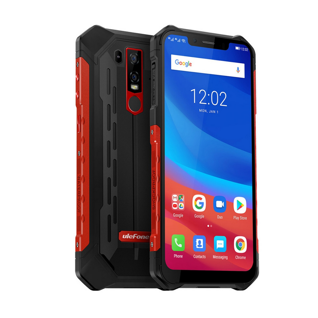Ulefone Armor 6 IP68/IP69K (6GB+128GB) Waterproof Android 8.1 5000mAh, 6.2 inch 4G Phone Global Version - red - SmartX Direct