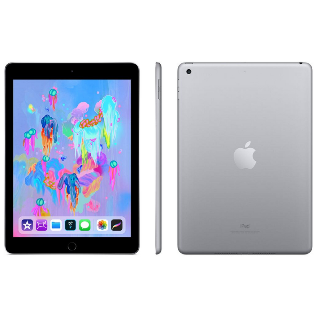 Apple iPad 2018 6th Generation 9.7 Inch Wi-Fi 128GB - Space Grey - Like Brand New Open Box