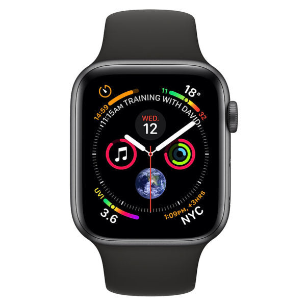 Apple Watch Series 4 GPS - 44mm Space Gray Aluminum Case with Black Sport Band - MU6D2 - SmartX Direct