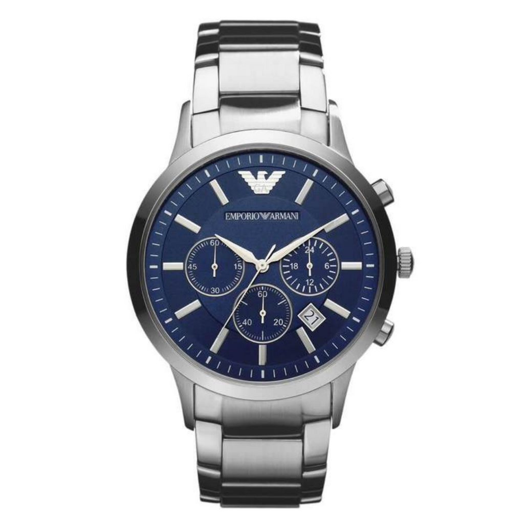 Armani Watches AR2448 Silver Stainless Steel Men's Watch - SmartX Direct